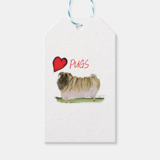 we luv pugs from Tony Fernandes Gift Tags