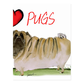we luv pugs from Tony Fernandes Postcard