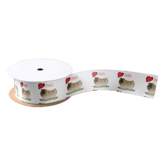 we luv pugs from Tony Fernandes Satin Ribbon