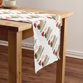 we luv pugs from Tony Fernandes Short Table Runner