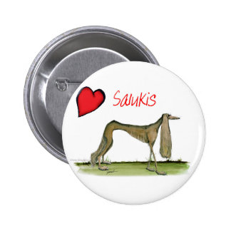 we luv salukis from Tony Fernandes 2 Inch Round Button