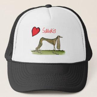 we luv salukis from Tony Fernandes Trucker Hat