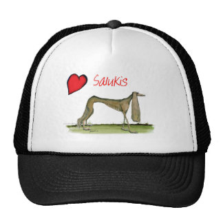 we luv salukis from Tony Fernandes Trucker Hat