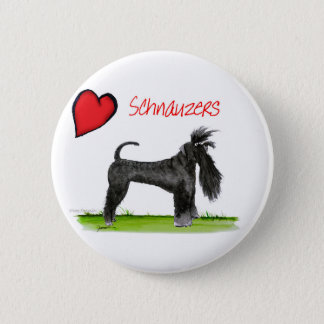 we luv schnauzers from tony fernandes 2 inch round button