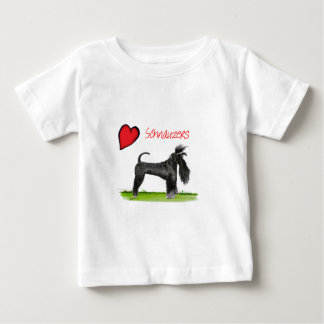 we luv schnauzers from tony fernandes baby T-Shirt