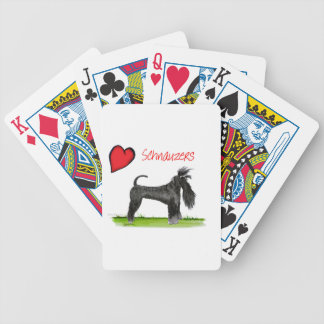 we luv schnauzers from tony fernandes bicycle playing cards