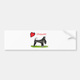 we luv schnauzers from tony fernandes bumper sticker