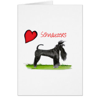 we luv schnauzers from tony fernandes card