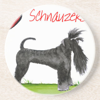 we luv schnauzers from tony fernandes coasters