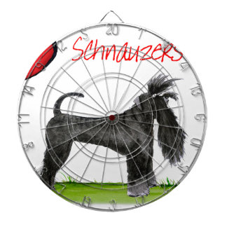 we luv schnauzers from tony fernandes dartboard