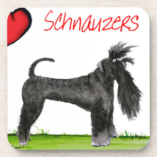 we luv schnauzers from tony fernandes drink coasters