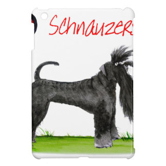 we luv schnauzers from tony fernandes iPad mini cases