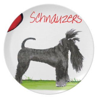 we luv schnauzers from tony fernandes plate