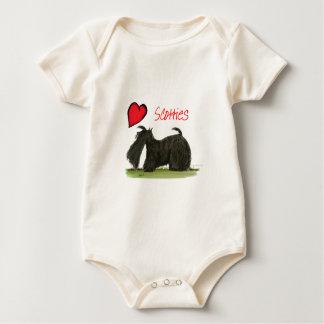 we luv scotties from Tony Fernandes Baby Bodysuit