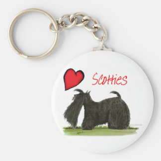 we luv scotties from Tony Fernandes Basic Round Button Keychain