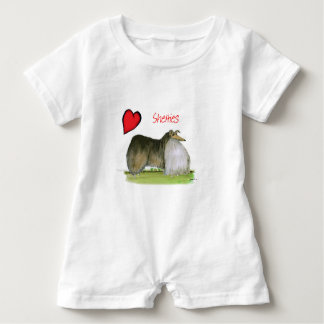 we luv shetland sheepdogs from Tony Fernandes Baby Romper