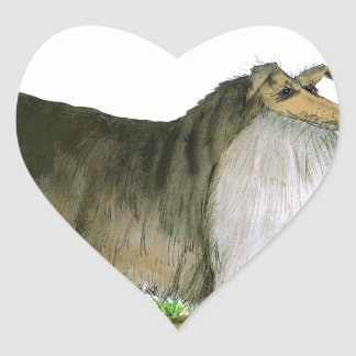 we luv shetland sheepdogs from Tony Fernandes Heart Sticker