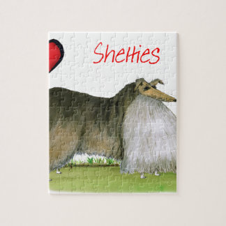 we luv shetland sheepdogs from Tony Fernandes Jigsaw Puzzle