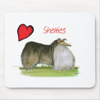 we luv shetland sheepdogs from Tony Fernandes Mouse Pad