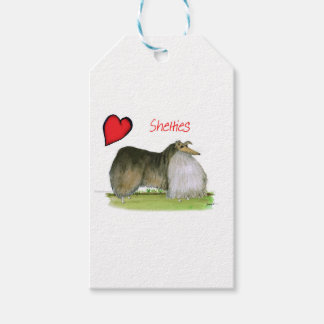 we luv shetland sheepdogs from Tony Fernandes Pack Of Gift Tags
