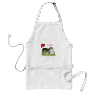 we luv shetland sheepdogs from Tony Fernandes Standard Apron