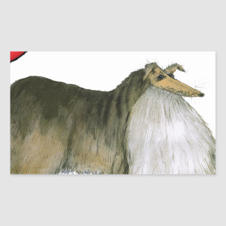 we luv shetland sheepdogs from Tony Fernandes Sticker