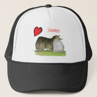 we luv shetland sheepdogs from Tony Fernandes Trucker Hat