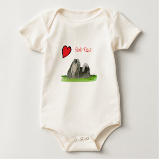 we luv shih tzus from Tony Fernandes Baby Bodysuit