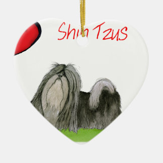 we luv shih tzus from Tony Fernandes Ceramic Ornament