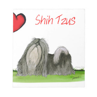 we luv shih tzus from Tony Fernandes Notepad