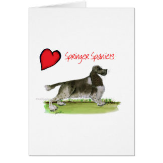 we luv springer spaniels from Tony Fernandes Card