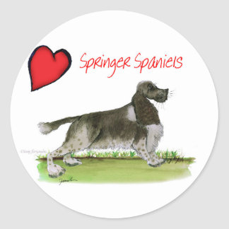 we luv springer spaniels from Tony Fernandes Classic Round Sticker