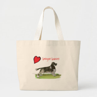 we luv springer spaniels from Tony Fernandes Large Tote Bag