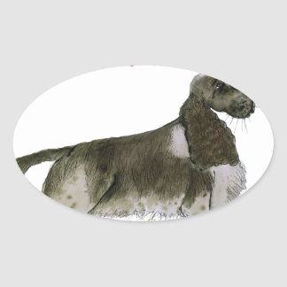 we luv springer spaniels from Tony Fernandes Oval Sticker