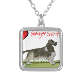 we luv springer spaniels from Tony Fernandes Silver Plated Necklace