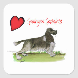 we luv springer spaniels from Tony Fernandes Square Sticker