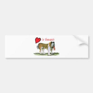 we luv st bernards from Tony Fernandes Bumper Sticker