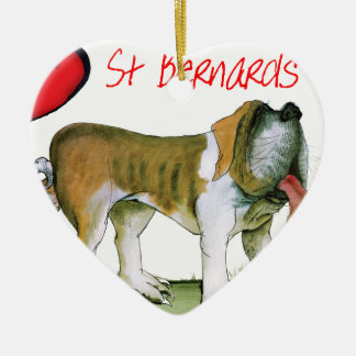 we luv st bernards from Tony Fernandes Ceramic Heart Ornament