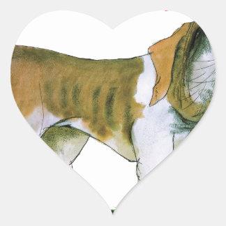 we luv st bernards from Tony Fernandes Heart Sticker