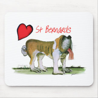 we luv st bernards from Tony Fernandes Mouse Pad
