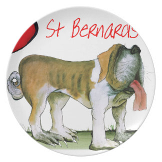 we luv st bernards from Tony Fernandes Plate