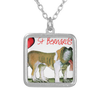 we luv st bernards from Tony Fernandes Silver Plated Necklace