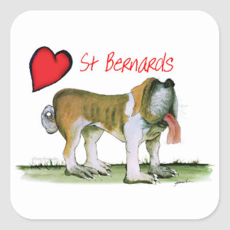 we luv st bernards from Tony Fernandes Square Sticker