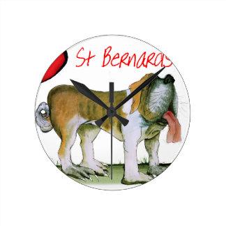 we luv st bernards from Tony Fernandes Wall Clock