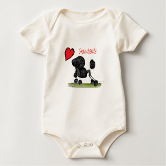 we luv standard poodles from Tony Fernandes Baby Bodysuit