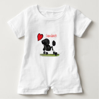 we luv standard poodles from Tony Fernandes Baby Romper