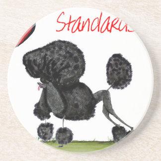 we luv standard poodles from Tony Fernandes Beverage Coasters