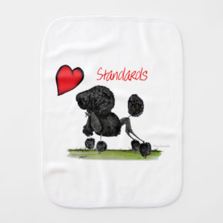 we luv standard poodles from Tony Fernandes Burp Cloth