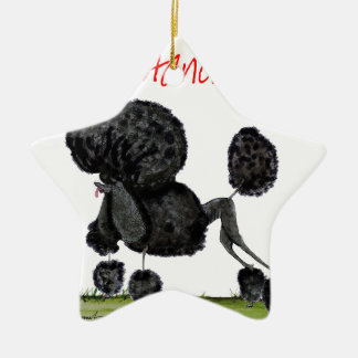 we luv standard poodles from Tony Fernandes Ceramic Ornament