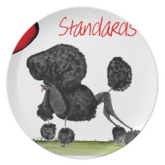 we luv standard poodles from Tony Fernandes Dinner Plates